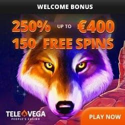 Tele Vega Casino 150 free spins bonus