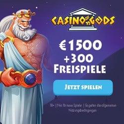 Casino Gods 300 Freispiele und 1500€ Willkommensbonus