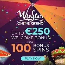 Winstar Casino 100 Freispiele und 250€ Willkommensbonus