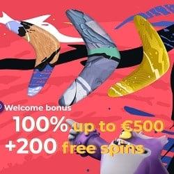 200 free spins welcome bonus
