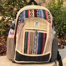 Large Himalayan Hemp Backpack with Laptop Pocket