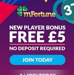 mFortune Mobile Casino - £5 FREE no deposit bonus for UK