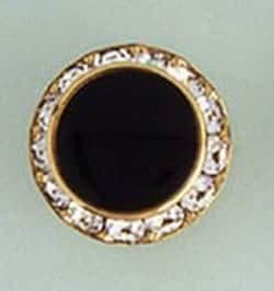 Button Cover Faux Onyx Crystal