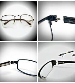 Titanium glasses repair