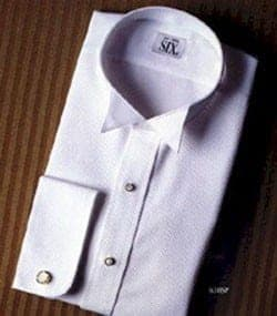 Tuxedo Shirt Fitted White Wing All Cotton Shirt After Six