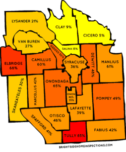 Onondaga County Radon Map