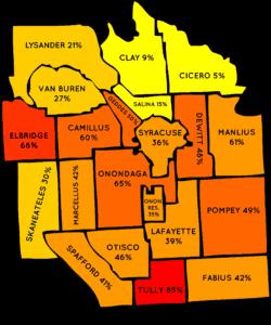Onondaga County Radon Map