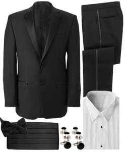 Wool Tuxedo Separates Package Coat And Pants
