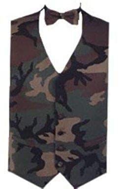 Satin Vest with Paisley Necktie