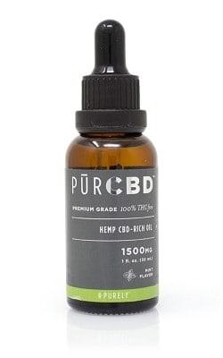 Purely THC free CBD tincture