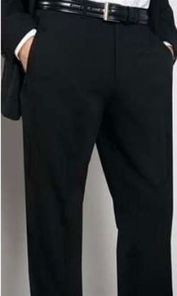 Wool Super 120s Flat Front Tuxedos Trouser By Ike Behar