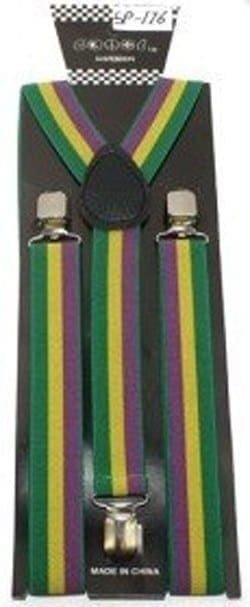 USA Flag Patriotic Suspenders – Button and Clip Convertible