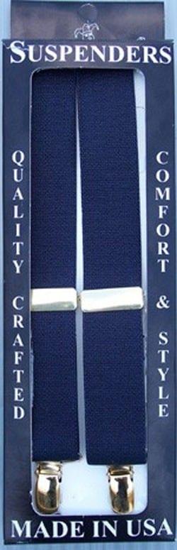 Mens NAVY BLUE Clip Suspenders Sale