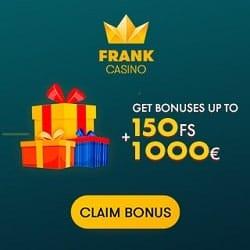 Frank Casino - 100 free spins and 100% bonus on Microgaming slots