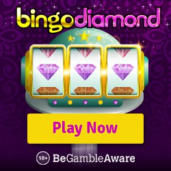 BINGO DIAMOND | 150 free spins + 300% up to £300 casino bonus