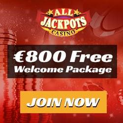 All Jackpots Casino $5 free chip no deposit + $1600 free bonus money