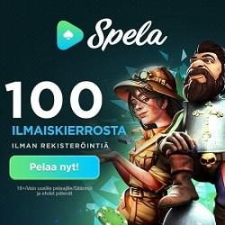 Spela Casino 100 Ilmaiskierrosta! Ei rekisteröintiä! Välittömät nostot!