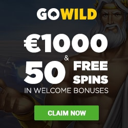 GoWild Casino $1000 gratis and 50 free spins welcome bonus