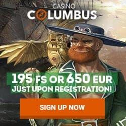 Columbus Casino Review: 195 free spins + 650 EUR welcome bonus