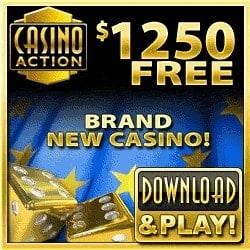 Casino Action 100 free spins + 325% up to €/$1200 free bonus