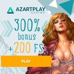 Azart Play Casino 300% free bonus and 200 free spins – play now!