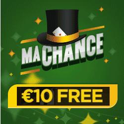 MaChance Casino 10 EUR bonus banner