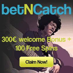 betNCatch Casino - 150 free spins and 100% up to €500 gratis bonus
