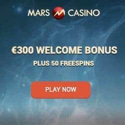 Mars Casino 50 free spins and €300 or 3 Bitcoins (BTC) free bonus