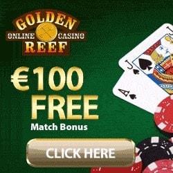 Golden Reef Casino   100 free spins and £€$ 100 free chip bonus
