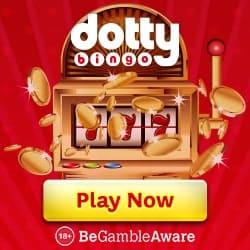 DOTTY BINGO - 100 casino free spins and 300% bonus up to £100