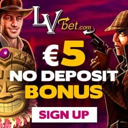 LVbet Casino €5 GRATIS + 100% up to €150 bonus + 15 free spins