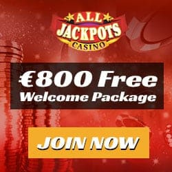 All Jackpots Casino - €1600 free spins bonus on Mega Moolah jackpot