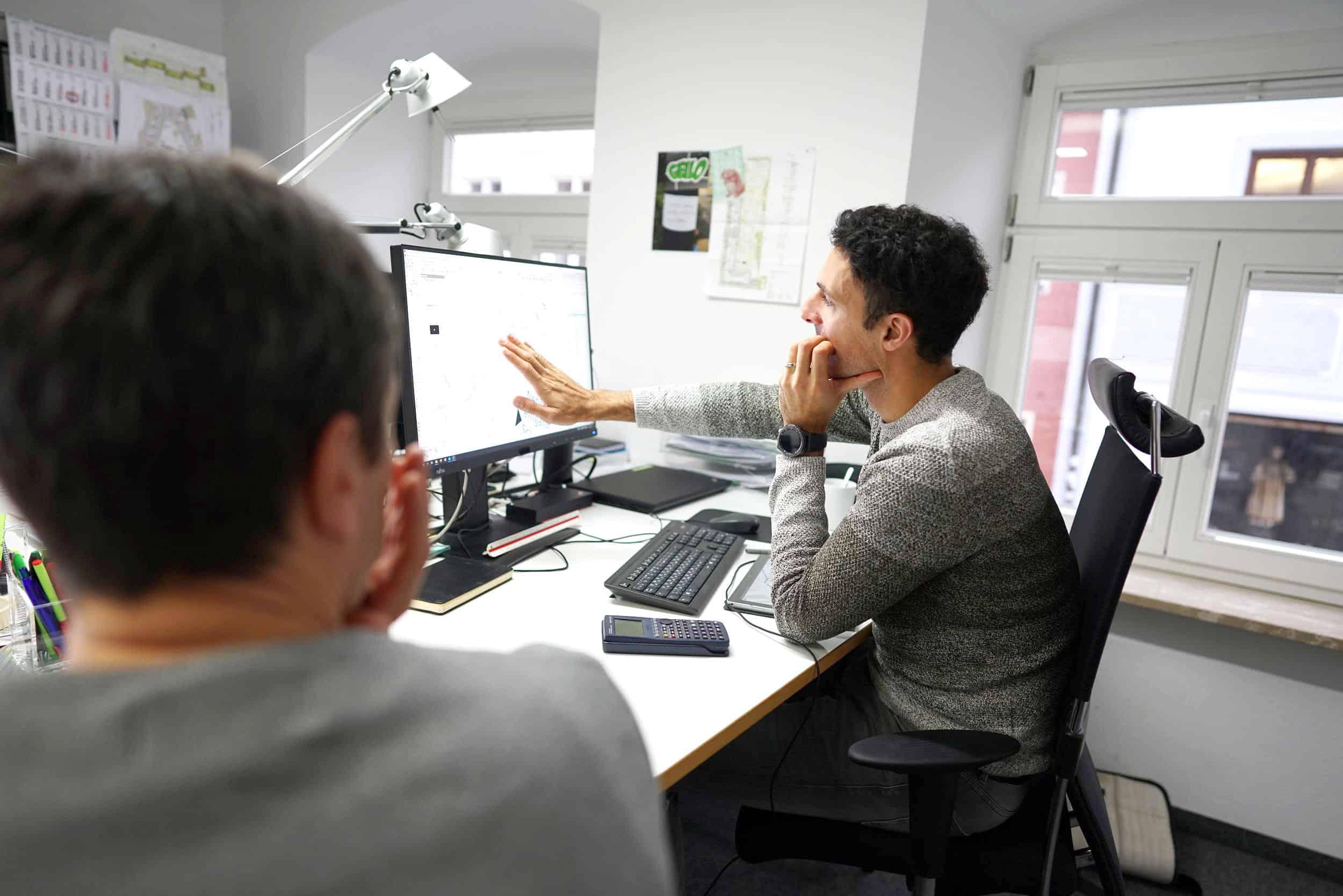 Bild: Besprechung im Büroleben von ver.de