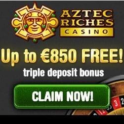 Aztec Riches Casino | 50 free spins + €/$850 free bonus credits
