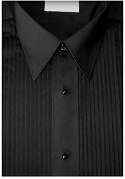 Black Laydown Tuxedo Shirt