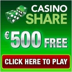 Casino Share 50 free spins & 175% up to €500 free bonus
