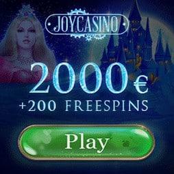 Joy Casino | 200 free spins plus £/€/$ 2000 bonus money | No deposit!