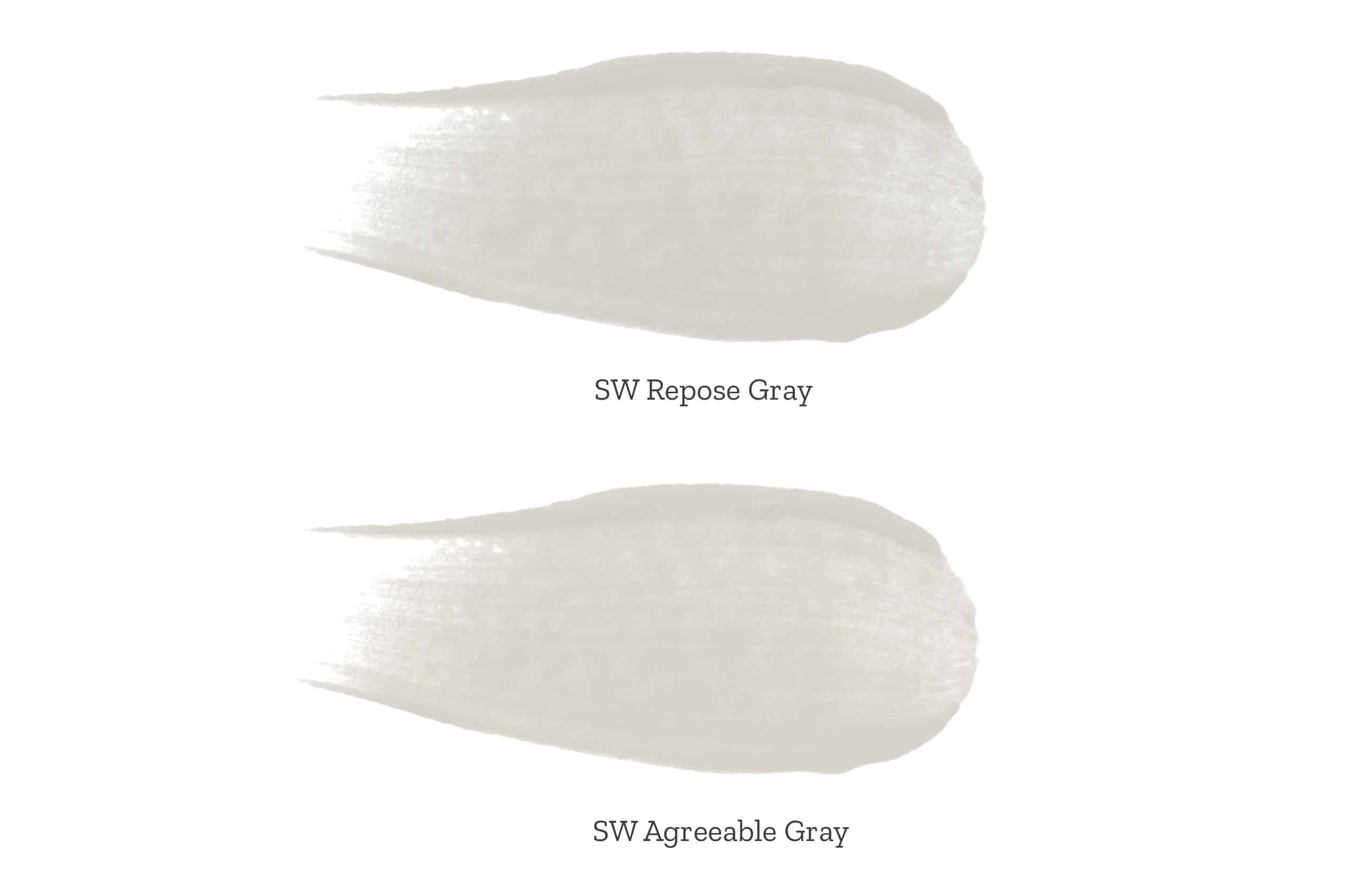 repose gray vs agreeable gray, side by sideå