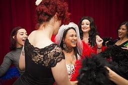 Bachelorette classes learn burlesque.