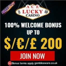 Ace Lucky Casino | 100% Bonus up to €200 & Gratis Spins | Freeplay!