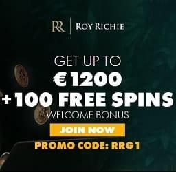 Roy Richie Casino | 325% up to €1200 deposit bonus and 100 gratis spins