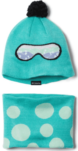 Columbia's fleece hat and neck warmer will keep toddlers warm on hikes where they're mostly being carried.