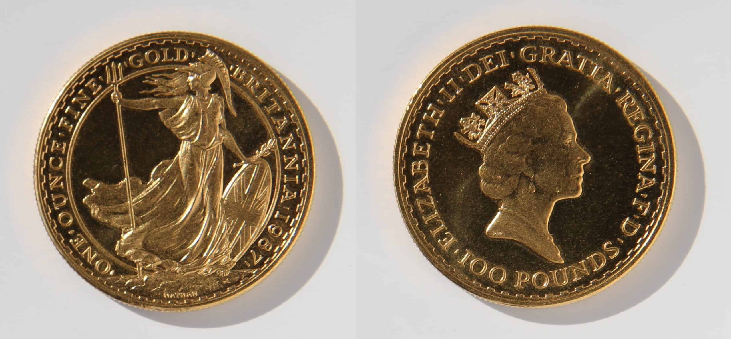 Goldmünze Britannia