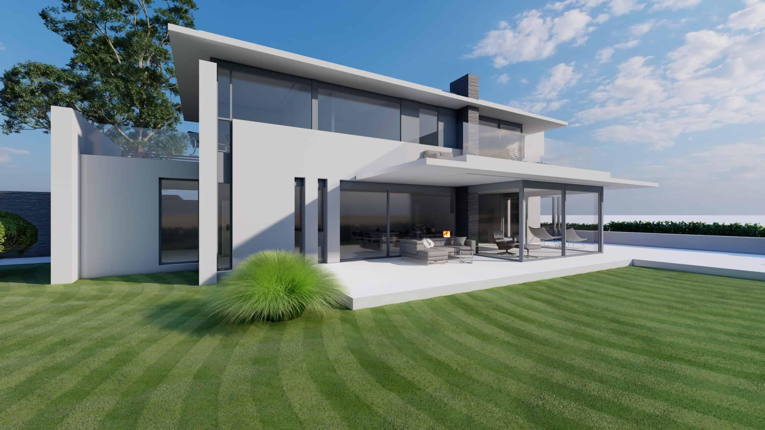 Architektenvilla Flachdach