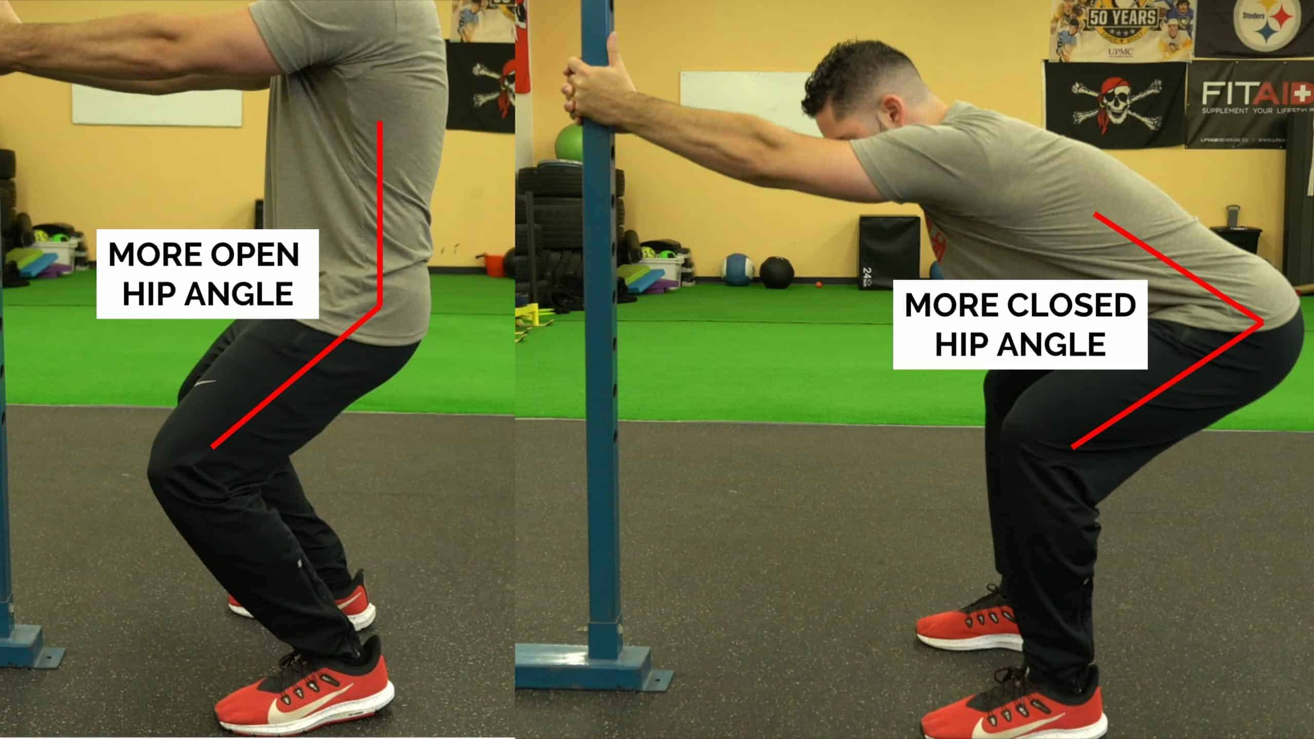 supported squat hip angle