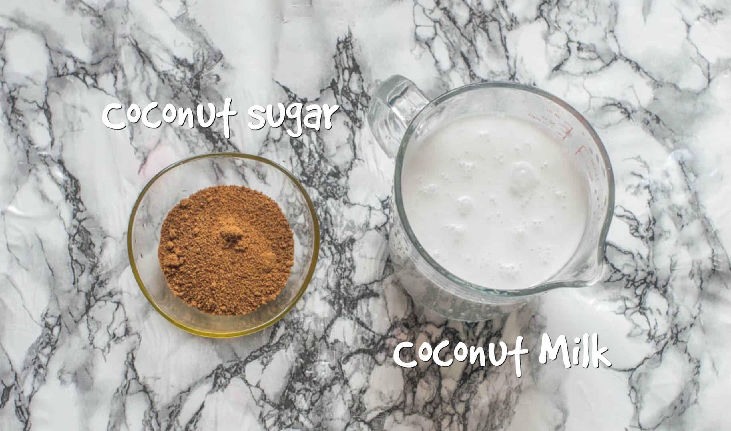 ingredients for vegan condensed milk
