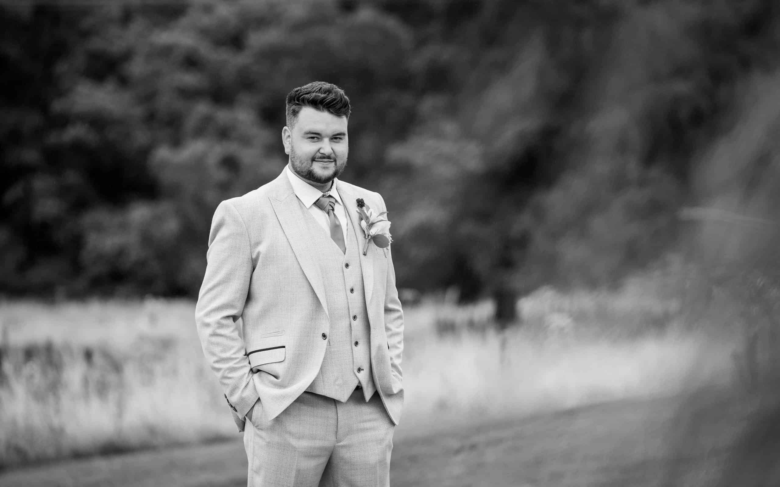 Grooms Portrait at South Causey Inn