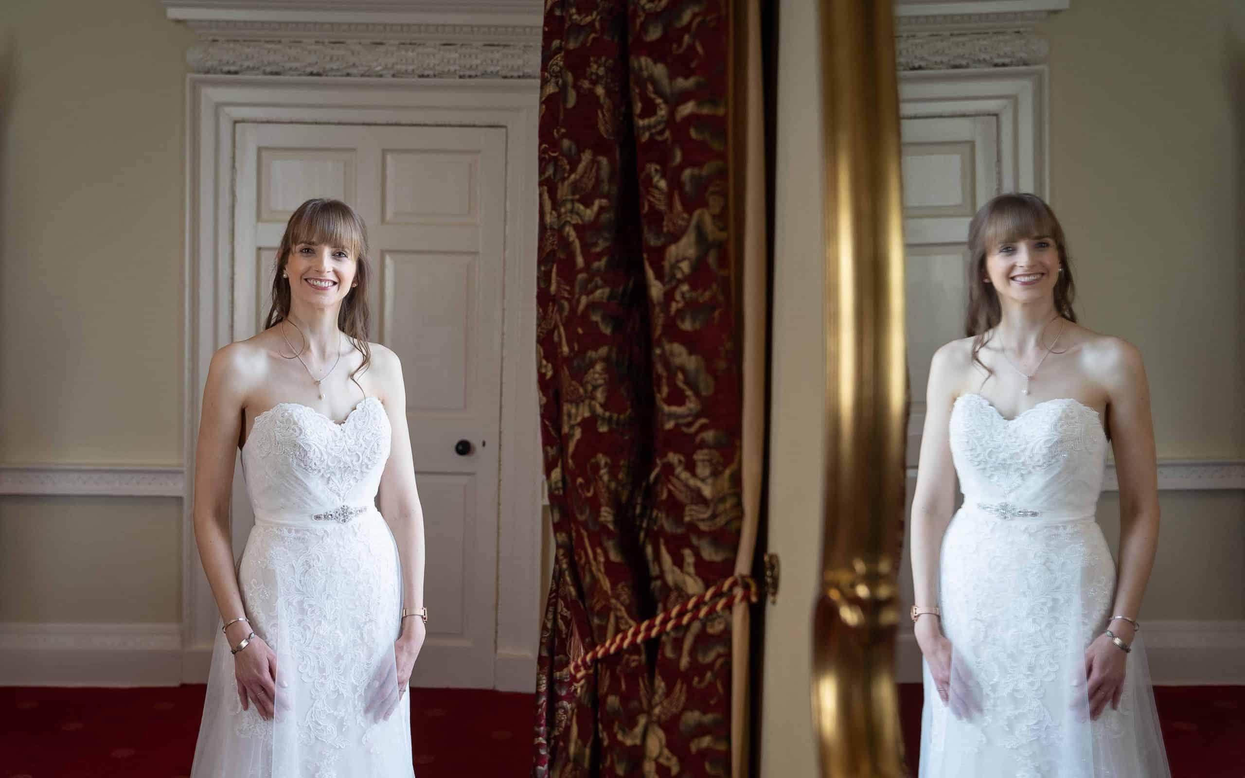 Beautiful bride at Walworth Castle