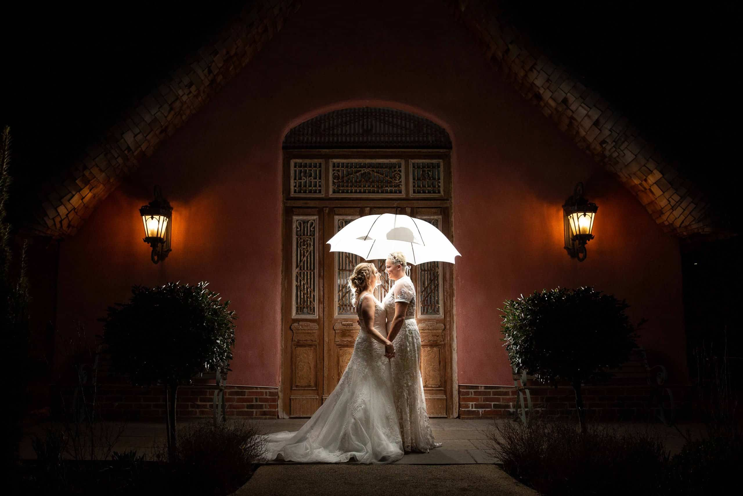 Creative wedding photography at Le Petit Chateau