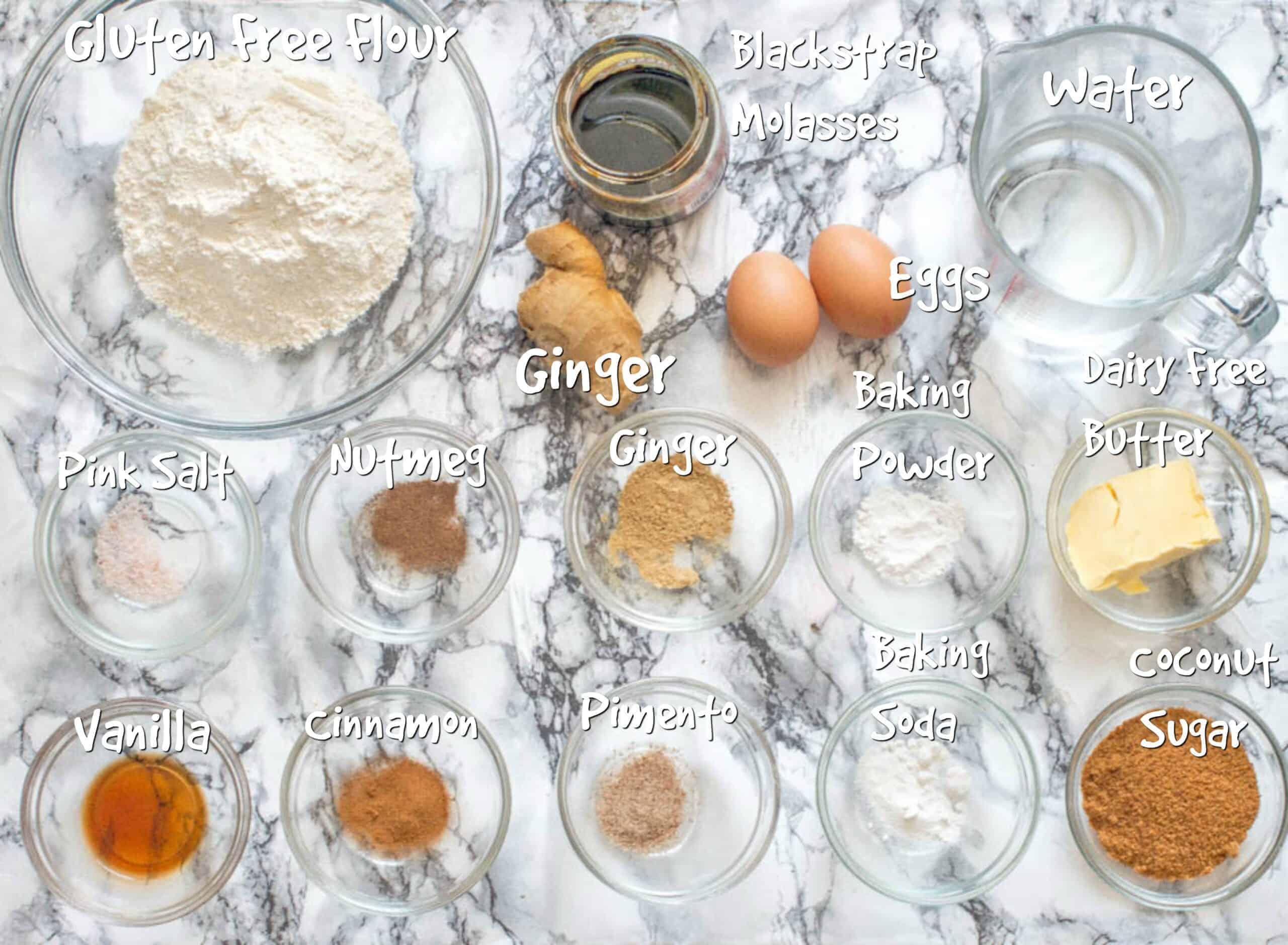ingredients for jamaican ginger cake